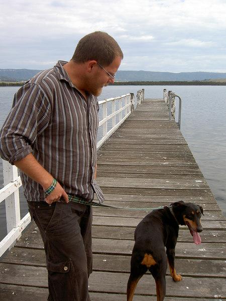 """""""Walking"""" Maggie's dog Dora"""