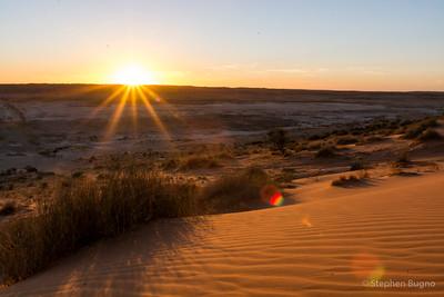 Big Red dunes at sunset