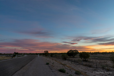 sunrise in Bedourie, QLD