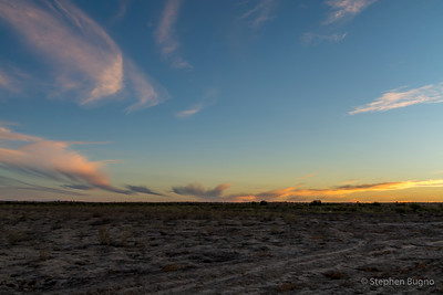 sunset outside Bedourie, QLD