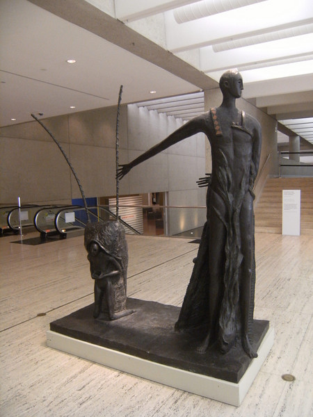 sculpture in the lobby