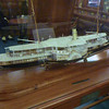 Model of one of the first motorized ships to visit Australia
