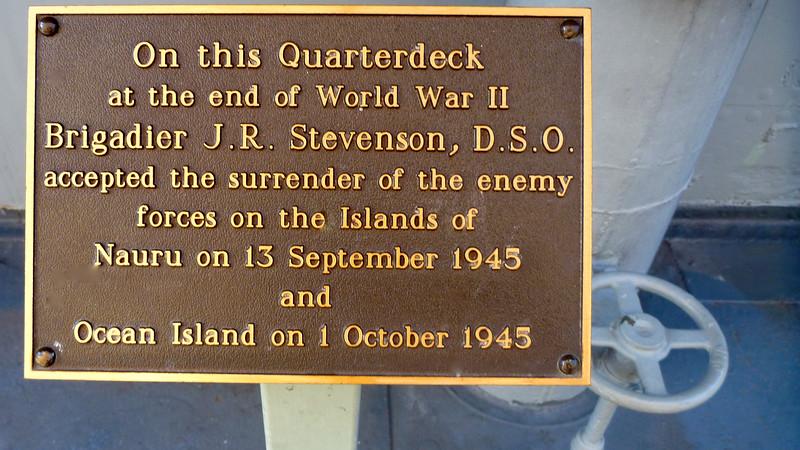 HMAS Diamantina has a place in history