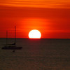 First Tropical Sunset in Darwin.  Taken at Sailing Club at Fannie Bay.