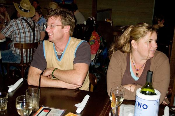 Ben and Larissa At the SSS restaurant Tamworth, New South Wales Australia - 16 Jun 006