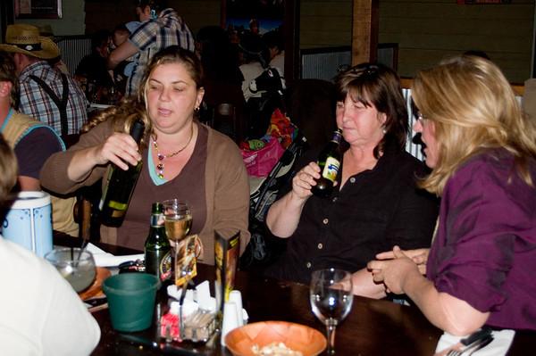 Larissa, Gill and Dheera At the SSS restaurant Tamworth, New South Wales Australia - 16 Jun 006