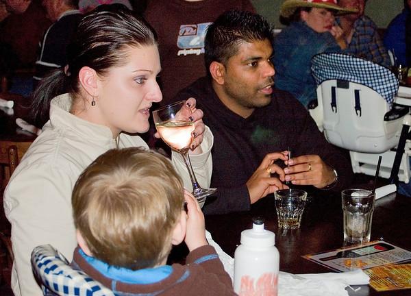 Cooper, Judy and Sam At the SSS restaurant Tamworth, New South Wales Australia - 16 Jun 006