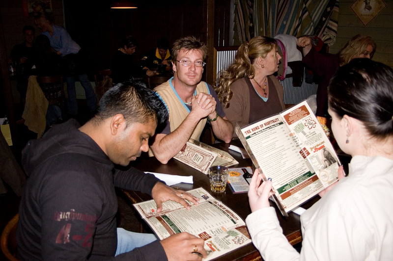 Judy, Sam, Ben and Larissa At the SSS restaurant Tamworth, New South Wales Australia - 16 Jun 006
