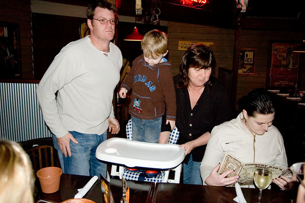 Tim, Cooper, Gill and Judy At the SSS restaurant Tamworth, New South Wales Australia - 16 Jun 006