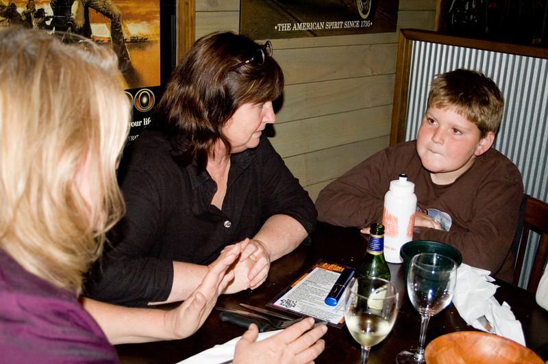 Dheera, Gill and Toby At the SSS restaurant Tamworth, New South Wales Australia - 16 Jun 006