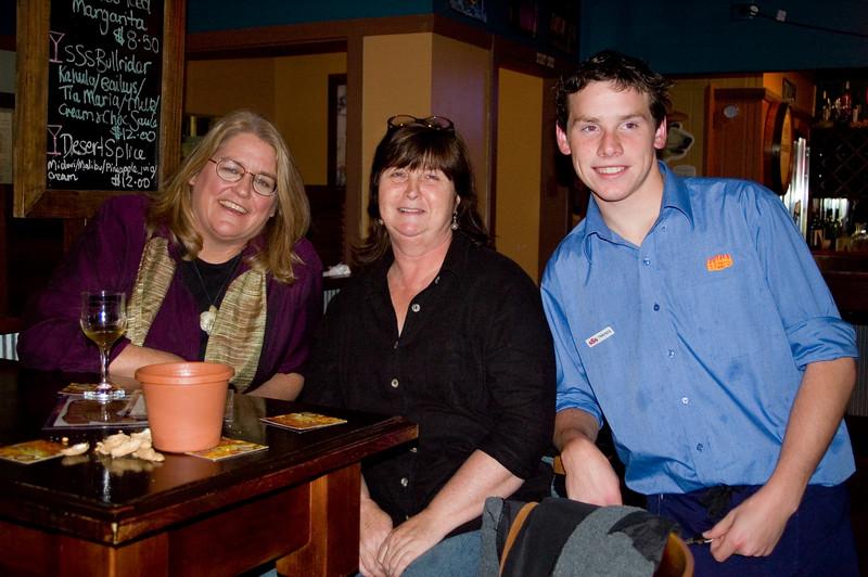 Dheera, Gill and Charlie (on waitering duty) At the SSS restaurant Tamworth, New South Wales Australia - 16 Jun 006