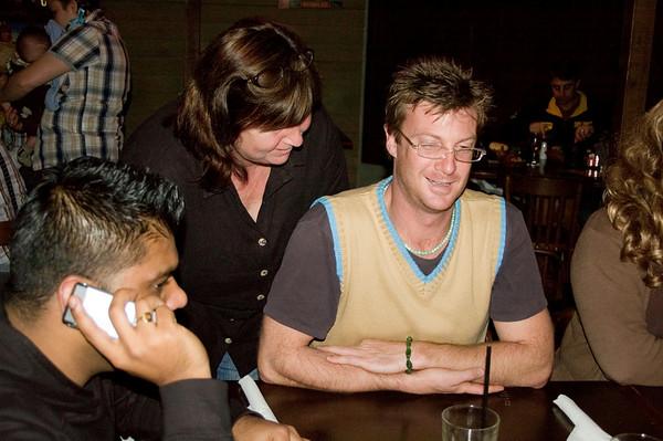 Sam, Gill and Ben At the SSS restaurant Tamworth, New South Wales Australia - 16 Jun 006