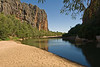 Windjana Gorge. There are dozens of freshwater crocodiles in this pool.
