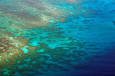 Low-level flight to Lizard island