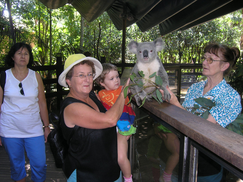 Mum, Abigail and koala