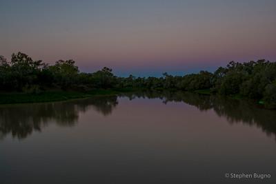 Thompson River in Longreach, QLD.