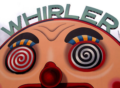 The Whirler ride at Luna Park, Sydney Australia