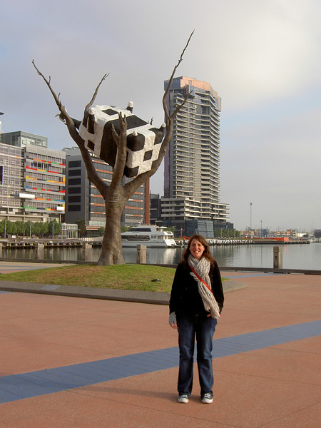 Cow stuck up tree in Docklands.
