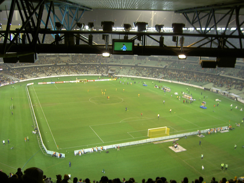 Socceroos vs Japan from the nosebleed seats at the MCG