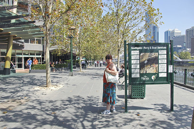 Gill on Southbank Promenade Melbourne Australia - Feb 2005