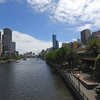 Yarra River winds its course through downtown Melbourne.<br /> <br /> December 17, 2007