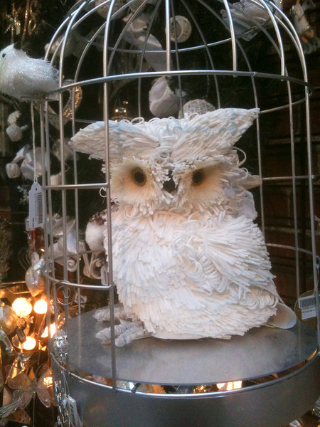 white owl decoration