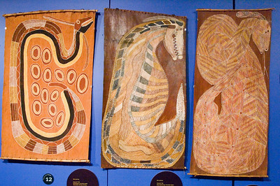 Rainbow Sepents Australian Museum Sydney, NSW Australia - 20 Jun 2006  The Rainbow Sepent is a giant snake-like creature depicted in Indegenous creation stories. The Rainbow Serpent slithered across Australia, creating the mountains and rivers. These paintings show interpretations of the Rainbow Serpent from different regions of Australia.