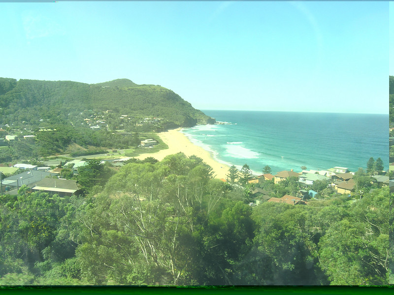 View from the train on the way to Wollongong