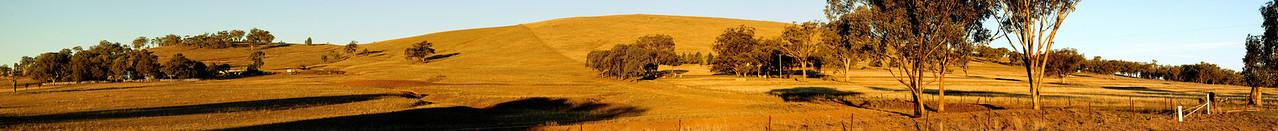 Country side at dusk Tamworth Shire New South Wales Australia - 16 Jun 2006