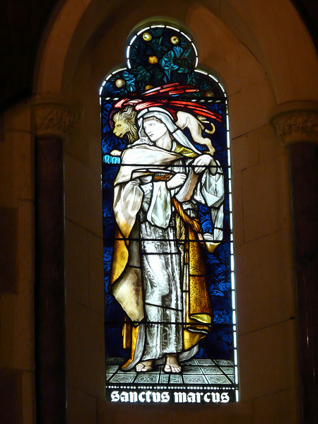 Sunday - Detail of stained glass window in St Barnabas Chapel.