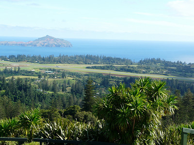 Sunday - View of Norfolk Island Airport from top of Mount Pitt, the second highest mountain on Norfolk standing at 316 metres.   Mount Bates is the highest mountain on Norfolk standing at 318 metres.