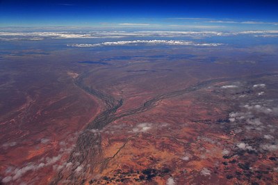 Flying towards Alice Springs
