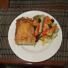 Bec's spinach pie and salad