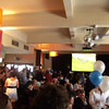 the crowd grows<br /> watching the Melbourne Cup at the Inglewood Hotel