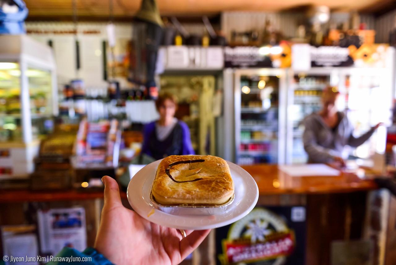 Curried Camel Pie at Birdsville Bakery