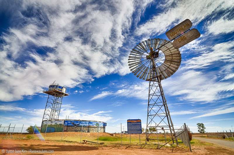 Windmill and water tank at Boulia