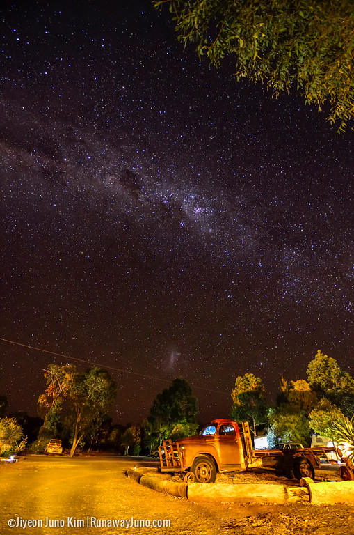 Camping in the Outback under the star