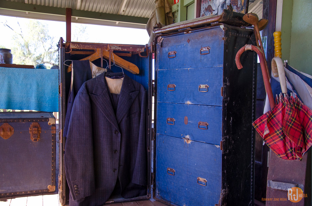 Robyn's father used to travel with this suitcase. Looks like a part of closet, don't you think?
