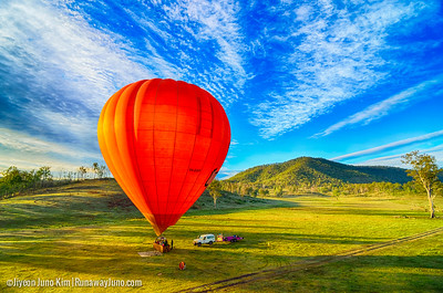 Hot Air Gold Coast - Hot air balloon in the early morning