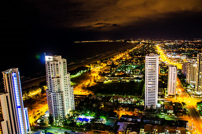 View of the Gold Coast from Peppers Hotels roof