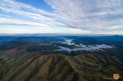 Hot Air Gold Coast - flying over the Advancetown Lake