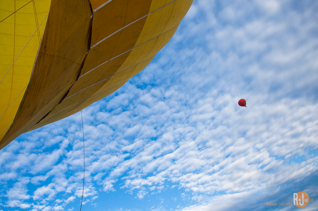 Two balloons in the sky