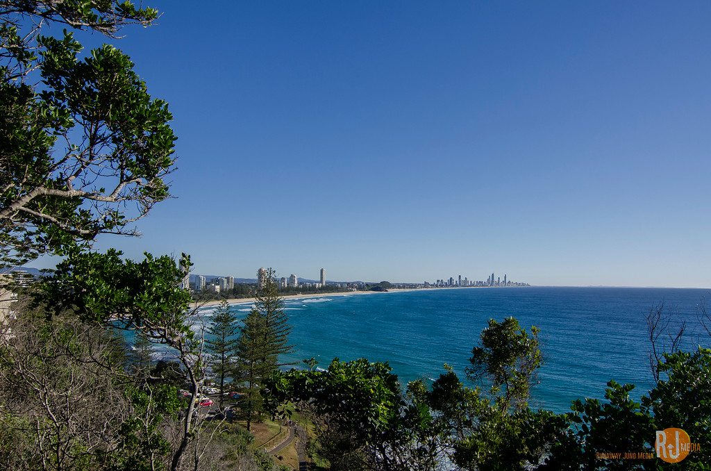 Gold Coast and the Surfer's Beach seen from Burleigh Head National Park