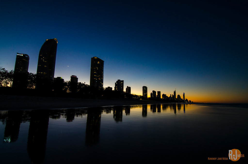 Gold Coast skyline at night