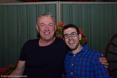 Peter and Stephen at Windorah Star bush pub