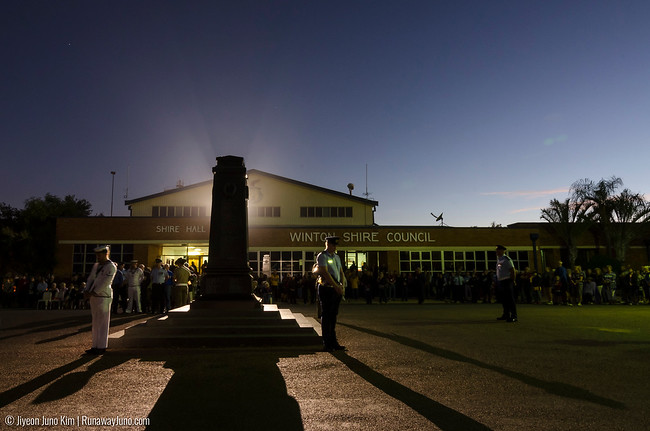 Dawn Service on the Anzac day - Centennial in Winton
