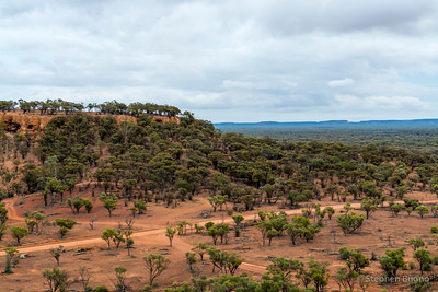 View from Baldy Top outside of Quilpie, QLD.