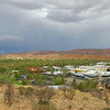 View of Alice Springs from Anzac Hill.  (Approaching rain storm broke the dry season - rain in the desert!)<br />    Dec. 20, 2007