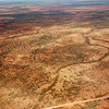 Outback as seen from the air just south of Alice Springs.