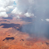 Rain from a thunderhead evaporates before reaching the ground in the Outback.
